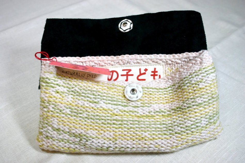 Kids In Love Collective Naturally Dyed Hand-Knit Suede Clutch